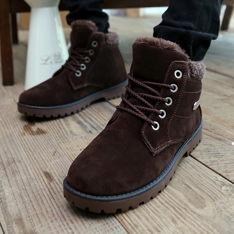 Мужская мягкий хлопок обувь Зимняя токов высокой помощь обувь